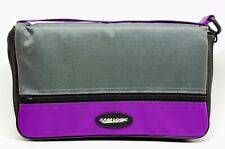 Case Logic Nylon CD Wallet w/Sleeve - Purple and Grey Case 24 Disc CD Capacity👍