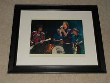 """Framed Rolling Stones Stage Shot 2012 Mini-Poster, 14"""" by 17"""", Mick + Keith"""