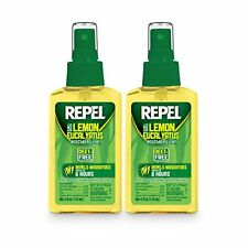 REPEL Lemon Eucalyptus Natural Insect Repellent with 4 oz Pump Spray, Twin Pack