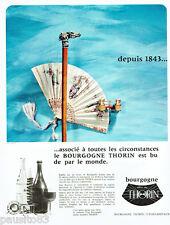 PUBLICITE ADVERTISING 115  1966  THORIN  le vin de Bougogne ***