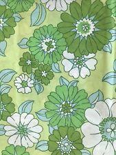 Vintage Fieldcrest Perfection Pillowcases Flower Power Lime Green MOD Retro 2