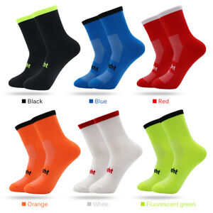 1/5/10X Cycling Socks Road Mountain Bike Sport Size 7-12 Mens Womens Socks F6J2