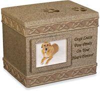 AngelStar 5-Inch Pet Urn for Dog, Dark Brown