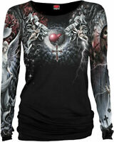 Spiral Direct LIFE AND DEATH CROSS Womens Long Sleeve Gothic/Angel/Top/Clothing