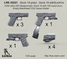 Live Resin 1/35 Glock 19 Guns Set