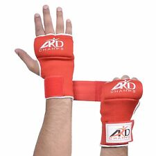 Ard Foam Padded Inner Gloves With Wraps Muay Thai Boxing Martial Arts Red S-Xl