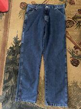 WRANGLER CARPENTER PAINTER Blue Denim Jeans Size 36x34
