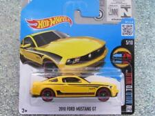 HOT WHEELS 2016 #060/250 2010 Ford Mustang Gt Yellow HW dolce con Custodia SELVATICI L