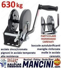 VERRICELLO MANUALE ARGANO A MANO KG 630 ACCIAIO BARCA GOMMONE CARRELLO NAUTICA