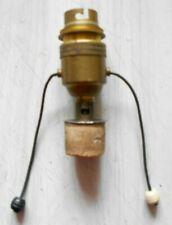 Douille interrupteur à tirette en laiton vintage pour lampe de chevet TBE