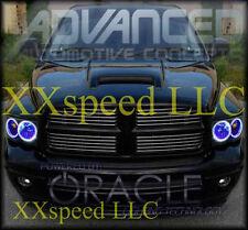ORACLE Dodge Durango 04-06 BLUE LED Headlight Halo Angel Demon Eyes Rings