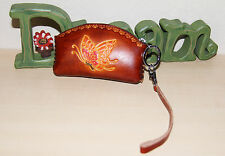 Genuine Leather Butterfly Embossed Coinpurse