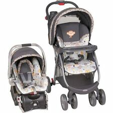 Baby Trend Stroller Combo Car Seat Base Travel System Animal Head Monkey Print