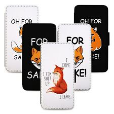 Funny Red Fox Jokes Flip Phone Case Cover Wallet - Fits Iphone 5 6 7 8 X 11