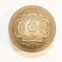 Antique Victorian Door Knob Brass Eastlake Style with Flower Design Single Knob