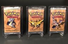 Pokemon Italian Fossil Sealed Booster Packs X3 Lapras Zapdos Aerodactyl Arts