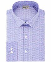 Reaction Kenneth Cole Mens Dress Shirt Purple Size 18 (2XL) Slim-Fit $69 105