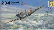 AV600 234 Sqn Spitfire RAF Battle of Britain cover signed KANE Stalag Luft POW