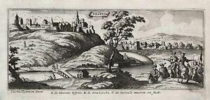 Veszprem Balaton Hungary Ungarn Peeters Bouttats engraving Kupferstich 1680
