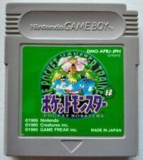 Game Boy - Pocket Monsters Midori (Pokemon Green Version, NTSC-J) BATTERY OK