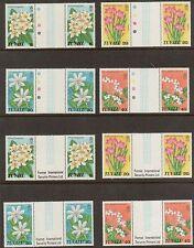 Tuvalu 92 - 95 - Flowers. Gutter Pairs.  MNH. OG. #02 TUVU92s