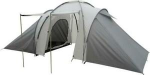 4 Person 2 Rooms Family Size Tent Waterproof Lightweight Outdoor Camp - Gray