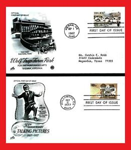 ZAYIX - United States FDCs / Anniversaries - Talking Pictures / Wolf Trap Farm