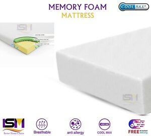 "Memory Foam Mattress Orthopedic Single Double 3FT 4FT 5FT   DEPTH 4"" 5"" 6"" 8"""