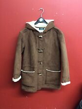 Lauren By Ralph Lauren Women's Winter Coat Jacket Sherpa Lined Vegan Shearling