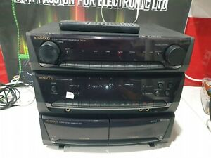 E579 Kenwood Stereo integrated RX-29 Amplifier Tuner and Double Cassette  remote