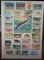 Fische Fish Peces Timbres Briefmarken Sellos Stamps