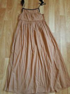 Ladies New Sz Xs Crochet Detail Maxi Hippy Dress