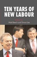 New, Ten Years of New Labour, Beech M, Lee S, Book