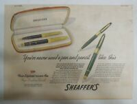 "Sheaffer's  Pen Ad:  Sheaffer's ""Lifetime Triumph Pen"" 1943 Size: 11 x 15 inches"