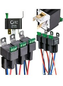 6 Pack 4-Pin 12V Bsch Replacement Fused Relay Switch Kit Interlocking Harness