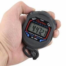 Wasserdicht Digital Stoppuhren Handheld Sport Timer Stoppuhr LCD Chronograph