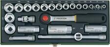 PROXXON 23110 Steckschlüsselsatz 10 mm 3/8 6 - 24 tlg Set Stahlbox 4006274231108