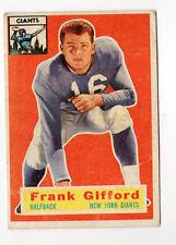 1956--FRANK GIFFORD (USC & NY GIANT--NFL MVP)--TOPPS CARD (#53)--VG