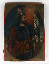 Antique Russian Icon St.John The Warrior 18-19th century