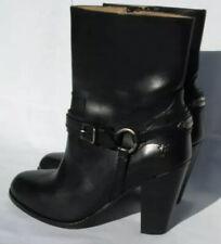 New Frye Jenny Plate Short Black Leather Boots Sz 6B Black 3475385
