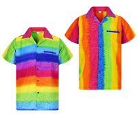 Funky Hawaiihemd Rainbow Vertikal oder Horizontal Mehrfarbig