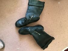 DR MARTENS BLACK BIKER STYLE BOOTS ZIPS AND BUCKLES SIZE 5
