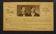1900 Christmas/New Year Photo Card WACHTER BROS General Store Sheboygan Falls,WI