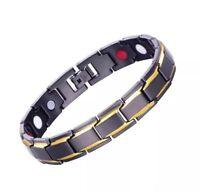 Titanium Steel Magnetic Sport Bracelet For Men Natural Pain Relief In Black UK
