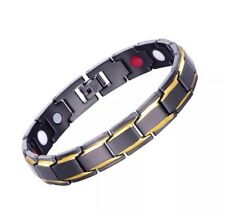 Titanium Steel Magnetic Sport Bracelet For Men Natural Pain Relief In Black UK