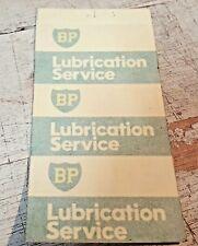 1982 BP Oil Co. Australia Lubrication Service Stickers x 3   NOS
