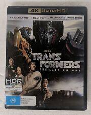 TRANSFORMERS: The Last Night 4K ULTRA HD + BLU-RAY oz seller UHD DVD Michael Bay