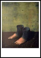 Rene Magritte Das rote Modell Poster Kunstdruck im Alu Rahmen in schwarz 70x50cm