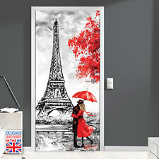 City of love - Self-adhesive Door Mural - Designed and Made in UK