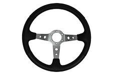 Grey Black 345mm Marino deep dish steering wheel fit Momo OMP Sparco boss kit